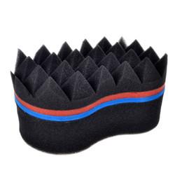 Wholesale Magic Curls - Pyramid Double Sides Magic twist hair brush sponge, Hair curl sponge brush for natural hair, afro coil wave dreads sponge brush