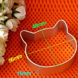 Wholesale Wholesale Metal Christmas Cookie Cutters - Christmas Kitchen Tools Aluminium Alloy Cat Head Shaped Fondant Cookie Cake Sugarcraft Plunger Cutter Free Shipping