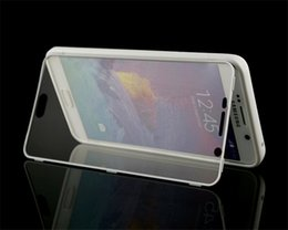 Wholesale Case Touch Screen Galaxy S3 - Flip Wrap Up TPU Gel Cover Case Built In Touch Screen Protector For Samsung Galaxy S3 S4 S5 Mini S6 Edge Plus Note 3 4 5
