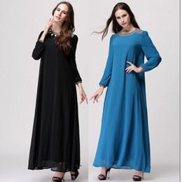 Wholesale Wholesale Islamic Dresses - Fashionable Wholesale Camisa Muslim Womenswear Abaya Islamic long dress Embroidered Pakistani