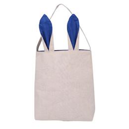 bolsas de yute hechas a mano Rebajas Recién llegado de Pascua Bunny Bag regalos de pascua regalos de liebre algodón lona bolsos bolso de compras regalo de pascua