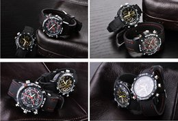 Wholesale Spy Wrist Watches - Newest fashion waterproof Spy Watch Hidden Pinhole Camera 720*480 8GB Wrist Watch Sports DVR Watch Camera free shipping