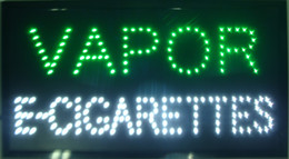 Wholesale Led Sign Boards - 2016 Hot sale custom neon signs led neon vapor e-cigarettes sign eye-catching slogans board indoor size 19''x10''