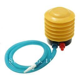Wholesale Yoga Toy - Wholesale-New Balloon Swimming Ring Yoga Ball Mattress Inflatable Toy Foot Bellow Air Pump