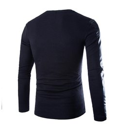 Wholesale Men Pu T Shirt - S5Q Men Short Casual Slim PU Leather Fight Skin Fall O-neck Long Sleeved T-shirt AAAFNG