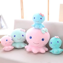 Wholesale Octopus Toy For Babies - 20cm Lovely Octopus Plush Toys Stuffed Soft Animal Cartoon Doll for Kids Baby Birthday Christmas Gift for Girls