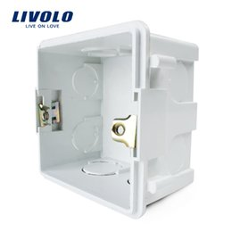 Wholesale White Box Switch - Free Choose, livolo White Plastic Materials, 83mm*83mm UK Standard Internal Mount Box for 86mm*86mm Standard Wall Light Switch NH01