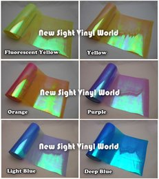 Wholesale Pvc Sticker Roll - High Quality 10 Colors Available Auto Car Styling Chameleon Headlight Tint Film Taillight Vinyl Tint Change Color Size: 0.3*10M Roll