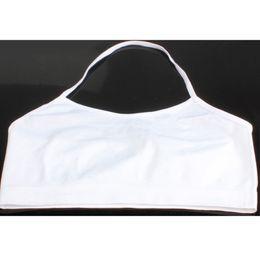 Wholesale Girls Boob Tube - Wholesale-New Fashion White Girl Women's Boob Halter Tube Crop Vest Sports Bra Bandeau M3A