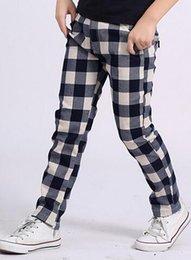 Wholesale Wholesale Quantity Clothes - Children Casual Pants For 2015 Autumn Best Quantity Cotton Boys Pants Plaid Clothing For Big Kids Fit 8-16 Age 4Pcs Lot 24-30