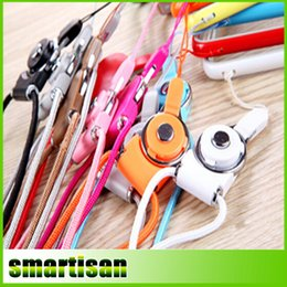 Wholesale New Mobil - Candy Colors Cell Phone Lanyard Neck Straps with Detachable Clips for Mobil Phone ID Card Business Card Student Card MP3 MP4 New Arrival