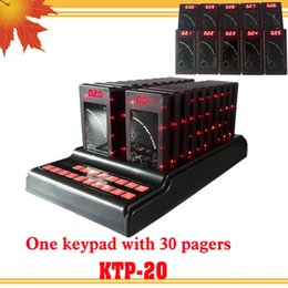 Wholesale Order For Restaurant - Restaurant paging system with 30 pagers for self-service fast food restaurant waiters call customers to pick up orders when it is ready