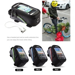 """Wholesale Bike Bag Cellphone - H0093 3 Colors Roswheel Outdoor Waterproof Cycling Bike Bicycle Frame Front Tube PVC Bag For CellPhone 5.5"""" inch Blue Red Green"""