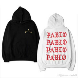 Wholesale Hooded Tops For Women - The Life Of Pablo Kanye West pullover hoodies for men women long sleeve hooded hip hop autumn casual top sweatshirts S-XXXL