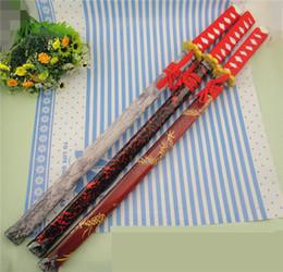 cuchillos samurai Rebajas Características de los apoyos de madera para el desempeño Japonés Samurai Espada Toyo Cuchillo Patrón decorativo largo Un cuchillo largo usado para la actuación