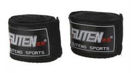Wholesale Wholesale Sports Boxing Gloves - 2pcs roll Width 5cm Length 2.5M Cotton Sports Strap Boxing Bandage Sanda Muay Thai MMA Taekwondo Hand Gloves Wraps 1set