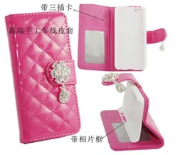 """Wholesale Diamond Sheep Leather Case - Luxury Sheep Diamond Leather Wallet Pouch Case Money Stand Purse Picture Credit Card Leather for iphone 6 4.7"""" inch"""