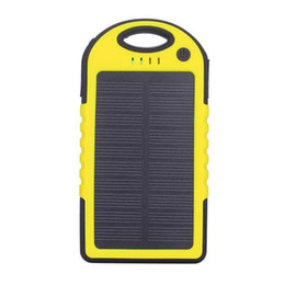 Wholesale mobile solar charger for laptop - Portable Solar Battery Charger Panel 2 USB Ports 5V Mobile Phone Smartphone Cellphone Waterproof Mini Travel Outdoor Universal Power Bank