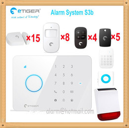 Wholesale Security Door Card System - Etiger new series security system 6 languages all-in-one S3b gsm sim card alarm system with solar alarm for big house