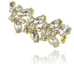 Wholesale Korean Clip Earrings - Clip On Earrings Screw Statement Fashion Luxury Jewelry Brand Design New Korean Crystal Clip Earrings Pierced Ears Cuffing Clip On Earrings