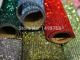 Wholesale Crystal Mesh Rolls - factory 24*40cm 888 crystal Beads Trims Rhinestone Iron On Transfer Design Mesh Strass Crystal Roll Wedding Bridal Decoration
