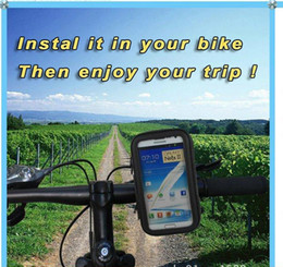 Wholesale Iphone Waterproof Case Clip - Cycling Waterproof Weather Resistant Bike Mount Bag For iPhone 6 6S Plus Samsung Galaxy S3 S4 S5 Note 2 Clip belt Holster Leather Pouch Case