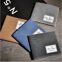 08391ecb55337 Hot Sale High quality CanvasWallets For Mens Designer Bifold Money Purse  Card holder Wallets Fashion Purse wallets