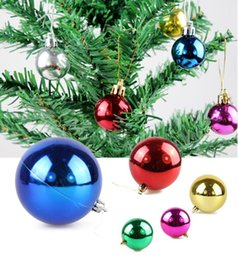 Wholesale Bright Hotels - 60Pcs Lot 6cm Electroplated Bright Christmas Ball Hotel Christmas Tree Decoration Hanging Accessory 2015 Christmas Decorations Style