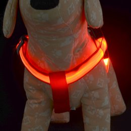 pc operating NZ - 1 PCS LED Dog Harness Collar Belt Pet Cat Dog Tether Safety Light Collars Pet supplies Battery Operated 6 colors 3 sizes DHL free shipping
