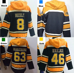 Wholesale Blank Blue Hoodie - Factory Outlet, Mens Boston Hoodie 8 Cam Neely 46 David Krejci 63 Brad Marchand blank Old Time Ice Hockey Jersey Hoodies Sweatshirt S-3XL ch
