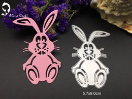 Wholesale Craft Bunnies - Metal cutting dies jump rabbit Rabbi Easter Bunny album card Scrapbook album paper craft embossing stencil punch