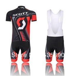 Wholesale Scott Cycling Bib Sets - Wholesale summer scott men's cycling Jersey sets with short sleeve bike shirt & (bib) short in cycling clothing, breathable bicycle wear