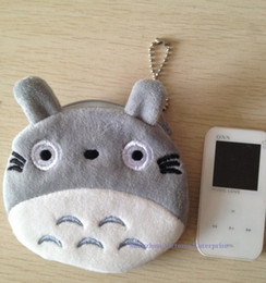 Wholesale Wallet Totoro - 10PCS NEW JAPAN TOTORO Cat Plush Coin Purses & Wallet Pouch Case BAG Pendant Bags Beauty Holder Handbag