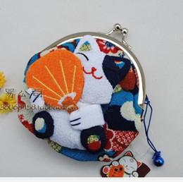 Wholesale Silk Lucky Bag - Hot Sale**32pcs`Japan!!Lucky Cat Coin Purse Wallet Coin Bag Purse+(Silk)