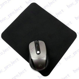 Wholesale Free Mouse Mats - 1.5mm thickness 20.0cmx24.0cm Natural rubber New black tasteless Mice Mouse Pad Mat Mousepad 500pcs lot for free DHL