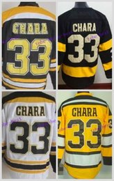 Wholesale Hockey Jerseys Sizes - Wholesale Boston Bruins 33 Zdeno Chara Cheap Ice Hockey Jerseys White 2016 Winter Classic Black Size S-XXXL