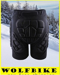 Wholesale Skate Protective - WOLFBIKE Black Short Protective Hip Butt Pad Ski Skate Snowboard skating skiing protection drop resistance roller padded Shorts hight qualty