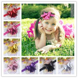 "Wholesale Children Headband Design Ribbon - new design 200pcs lot 3"" baby ribbon bows headband hairband kids' hair accessories children accessories Baby Boutique bows"