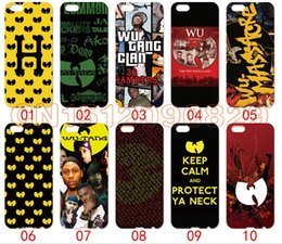 Wholesale Galaxy S4 Clear - Wu Tang Logo For iPhone 6 6S 7 Plus SE 5 5S 5C 4S iPod Touch 5 For Samsung Galaxy S6 Edge S5 S4 S3 mini Note 5 4 3 phone cases