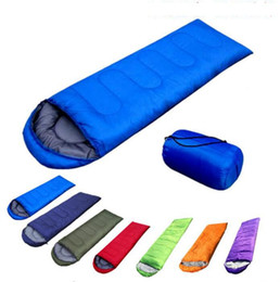 Wholesale home casual - Outdoor Sleeping Bags Warming Single Sleeping Bag Casual Waterproof Blankets Envelope Camping Travel Hiking Blanket Sleeping Bag KKA1602