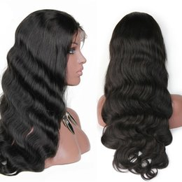 Wholesale Synthetic Swiss Lace Wig - Human Hair Lace Front Wigs for Black Women 150 density Full Lace Wigs Body Wave Top Quality Hair Wigs Natural Color