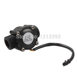 Wholesale Hall Effect Flow Sensor - Wholesale-G3 4 Water Flow Sensor Switch Hall Effect Flow Meter Counter 1-60L min BS88