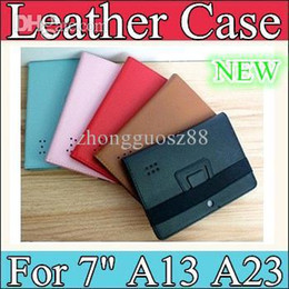 Wholesale Ebook Case Cover - 10PCS SD-1 7inch Leather Case Cover stand holder and bandage for 7inch Tablet PC AllWinner A13 A23 A31S A20 Q88 EBOOK PT07-5