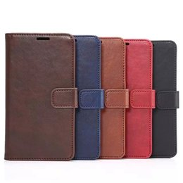 Wholesale Note Holster Wallet - Crazy Horse Mad Oil Wallet Leather Case for Samsung Galaxy S6 S5 Note 3 4 for iPhone 6 Plus for HTC ONE M8 Credit ID Card Cash Slot Holster