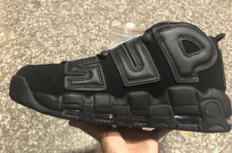 Wholesale More Golds - 2017 Newest Air More Uptempo SUPTEMPO Basketball Shoes OLYMPIC RELEASE Bulls Gold Varsity Maroon Black Mens Women Scottie Pippen Shoes