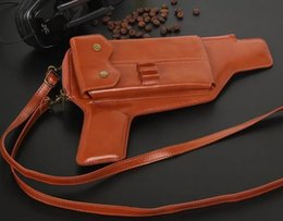 Wholesale Designer Leather Iphone Cases - 2015 New Pu Leather Shoulder Bag Vintage Designers Leather Handbags 3D Pistol Bag Women Messenger Bags