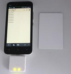 Lector Micro USB NFC 13.56 Mhz Sensor de proximidad RFID Lector de tarjetas inteligentes 4/7 bytes UID adaptable para Android Linux Windows desde fabricantes
