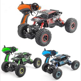 Wholesale Rc Scale Truck - RC Car 2.4G 4CH 4WD 1:18 Scale Off-Road Vehicle Buggy High Speed Racing Car Remote Control Truck Turggies Four-wheel Climber SUV