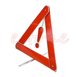 Wholesale Triangles Safety Wholesale - Wholesale-Car Rear Warning Board Stop Vehicle Danger Reflective Safety Triangle Sign New