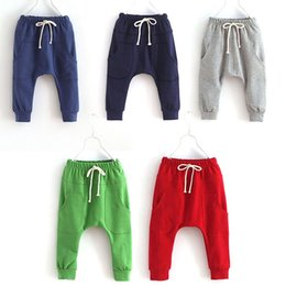 Wholesale Toddler Sport Pants - Sports Fitness Kid Toddler Child Harem Pants Baby Boy Girl Trousers Bottoms Size 2 6 Years